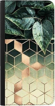 Portfel DUX DUCIS Skin PRO geometryczna roślina na Samsung Galaxy A70