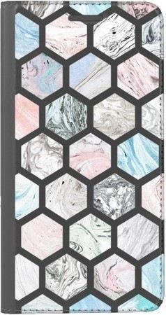 Portfel DUX DUCIS Skin PRO marmurowe sześciokąty na Huawei Honor 10