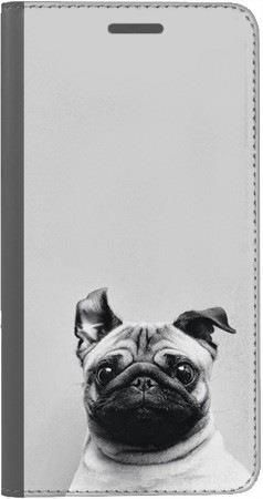 Portfel DUX DUCIS Skin PRO mops na szarym tle na Huawei Honor 9 Lite