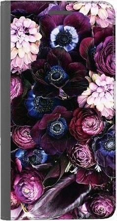 Portfel DUX DUCIS Skin PRO purpurowa kompozycja kwiatowa na Xiaomi Redmi Note 5a