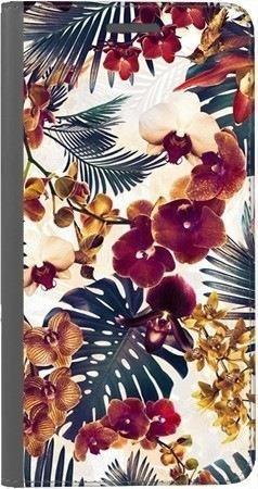 Portfel DUX DUCIS Skin PRO tropikalne kwiaty na Huawei Honor 10