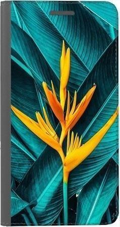Portfel DUX DUCIS Skin PRO żółty kwiat i liście na Xiaomi Redmi Note 5a