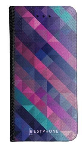 Portfel Wallet Case LG G8 ThinQ fioletowa geometria