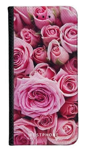Portfel Wallet Case LG G8 ThinQ różowe róże