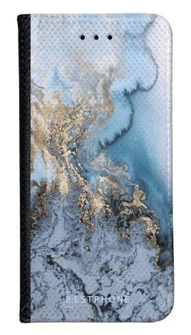 Portfel Wallet Case LG K40 błękitny marmur