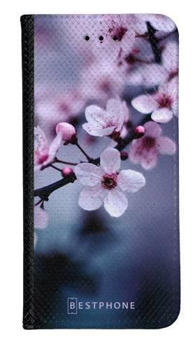 Portfel Wallet Case LG K40 kwiaty wiśni