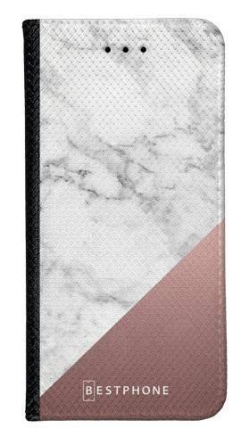 Portfel Wallet Case LG K40 marmur z miedzią