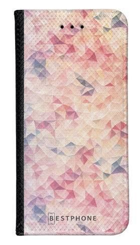 Portfel Wallet Case LG K40 różowe trójkąciki