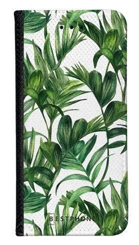 Portfel Wallet Case Samsung Galaxy A10e liście tropikalne
