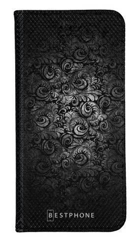 Portfel Wallet Case Samsung Galaxy A20e czarne wzorki