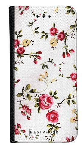 Portfel Wallet Case Samsung Galaxy A20e haftowane kwiatki
