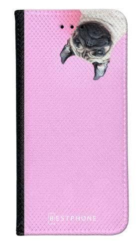 Portfel Wallet Case Samsung Galaxy A20e mops na różowym