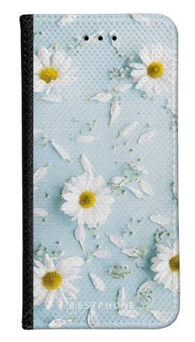 Portfel Wallet Case Samsung Galaxy A20e stokrotki na błękiciw