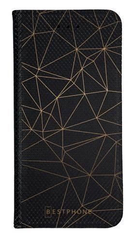 Portfel Wallet Case Samsung Galaxy A20e trójkątny wzór złoty