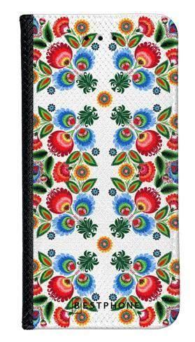 Portfel Wallet Case Samsung Galaxy A5 kwiaty łowickie