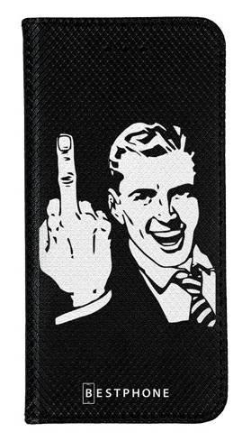Portfel Wallet Case Samsung Galaxy A5 middle finger