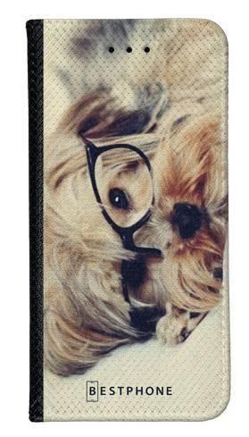 Portfel Wallet Case Samsung Galaxy A5 pies w okularach