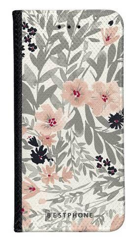 Portfel Wallet Case Samsung Galaxy A5 szare kwiaty