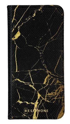 Portfel Wallet Case Samsung Galaxy A60 czarno złoty marmur