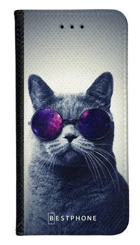 Portfel Wallet Case Samsung Galaxy A60 kot w okularach galaxy
