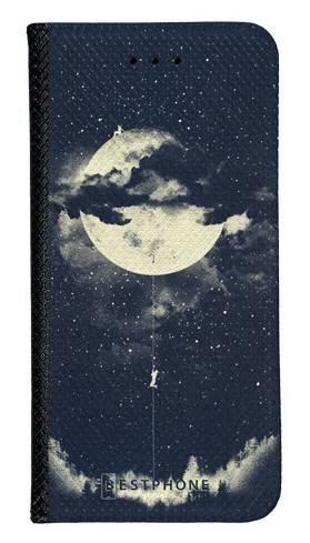 Portfel Wallet Case Samsung Galaxy A60 księżyc