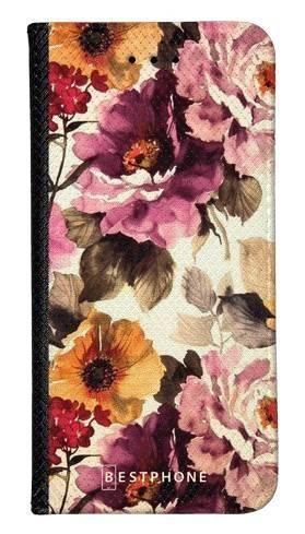 Portfel Wallet Case Samsung Galaxy A60 kwiaty akwarela