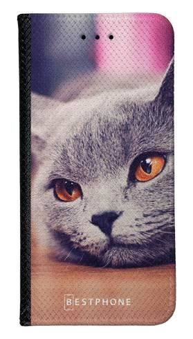 Portfel Wallet Case Samsung Galaxy A60 lazy cat