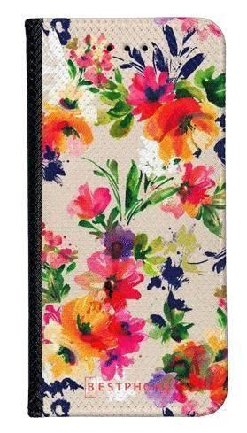 Portfel Wallet Case Samsung Galaxy Core Prime malowane kwiaty