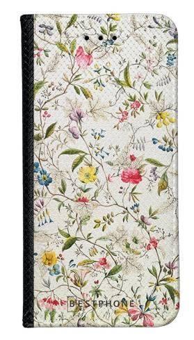 Portfel Wallet Case Samsung Galaxy Note 10 Pro białe kwiatki