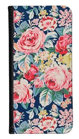 Portfel Wallet Case Samsung Galaxy Note 10 Pro niebieskie kwiaty vintage