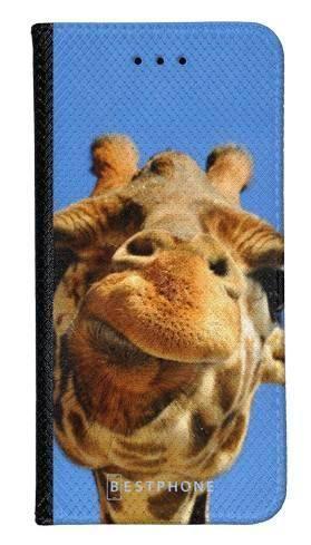 Portfel Wallet Case Samsung Galaxy Note 10 Pro śmieszka żyrafa