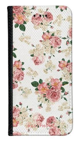 Portfel Wallet Case Samsung Galaxy Note 10 beżowe kwiatki