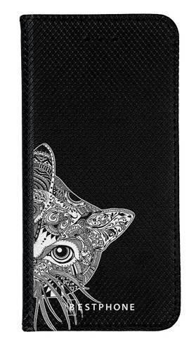 Portfel Wallet Case Samsung Galaxy Note 10 biało czarny kot
