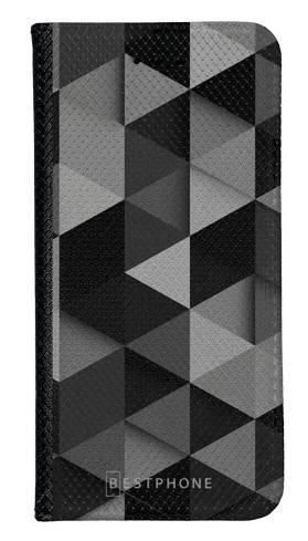 Portfel Wallet Case Samsung Galaxy Note 10 czarne trójkąty