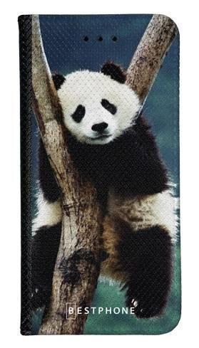 Portfel Wallet Case Samsung Galaxy Note 10 panda na drzewie