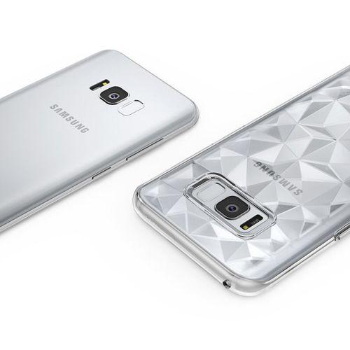 Ringke Air Prism designerskie żelowe etui pokrowiec 3D Samsung Galaxy S8 G950 czarny (APSG0004-RPKG)
