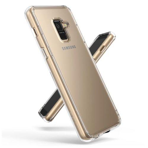 Ringke Fusion etui pokrowiec z żelową ramką Samsung Galaxy A8 2018 A530 szary (FSSG0032-RPKG)