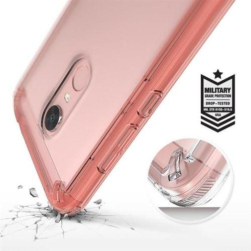 Ringke Fusion etui pokrowiec z żelową ramką Xiaomi Redmi 5 Plus / Redmi Note 5 (single camera) różowy (RFXI011-RPKG)
