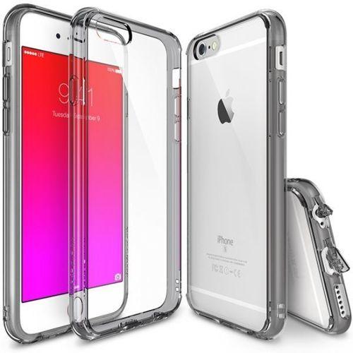 Ringke Fusion etui pokrowiec z żelową ramką iPhone 6S / 6 szary (RFAP014-RPKG)