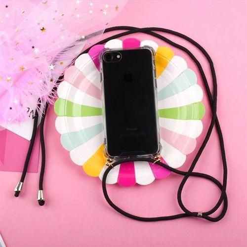 Rope case żelowe etui ze smyczą torebka smycz Samsung Galaxy A50 przezroczysty
