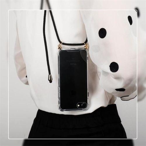 Rope case żelowe etui ze smyczą torebka smycz Samsung Galaxy S10 przezroczysty