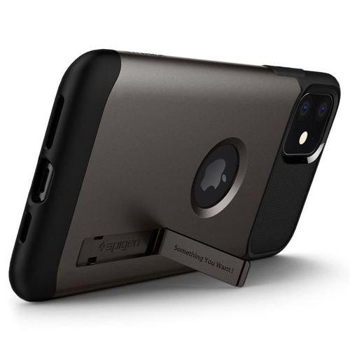 SPIGEN SLIM ARMOR IPHONE 11 GUNMETAL +szkło 5D