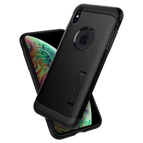 SPIGEN Slim Armor iPhone XR black + szkło 5D UV