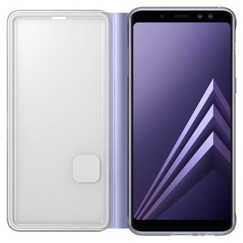 Samsung Neon Flip Cover etui pokrowiec z neonową ramką Samsung Galaxy A8 2018 A530 fioletowy