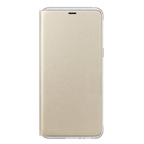 Samsung Neon Flip Cover etui pokrowiec z neonową ramką Samsung Galaxy A8 2018 A530 złoty (EF-FA530PFEGWW)