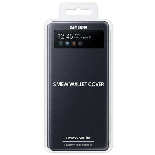 Samsung S View Wallet etui kabura bookcase z inteligentną klapką okienkiem Samsung Galaxy S10 Lite biały (EF-EG770PWEGEU)