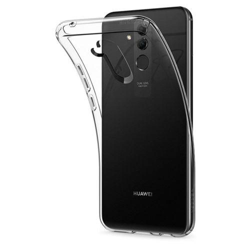 Spigen Liquid Crystal żelowe etui elastyczny pokrowiec Huawei Mate 20 Lite przezroczysty (L35CS25066) +szkło 3MK HG Lite