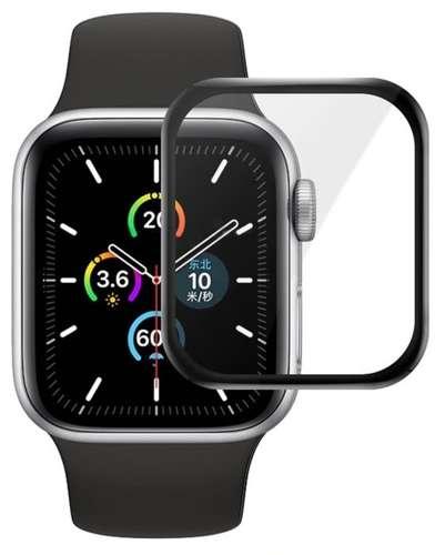 Szkło Hybrydowe FULL GLUE 5D do Apple Watch 4 / 5 / 6 / SE 40mm czarny