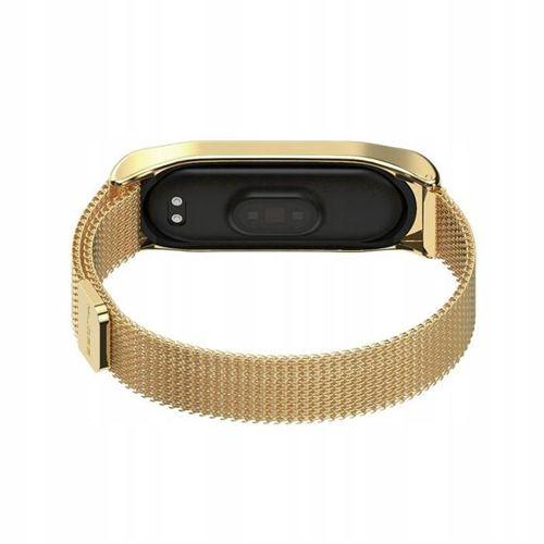 TECH-PROTECT MILANESE opaska pasek bransoleta BAND XIAOMI MI BAND 3/4 CHAMPAGNE GOLD