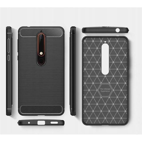 TECH-PROTECT etui TPUCARBON NOKIA 6.1 2018 BLACK
